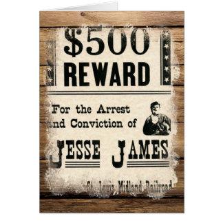 Gewollter Jesse James Karte