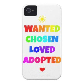 Gewolltes ausgesuchtes geliebtes adoptiertes iPhone 4 Case-Mate hüllen