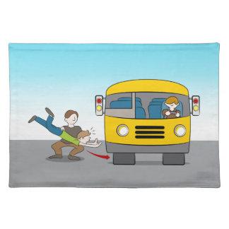 Geworfen unter Bus Tischset