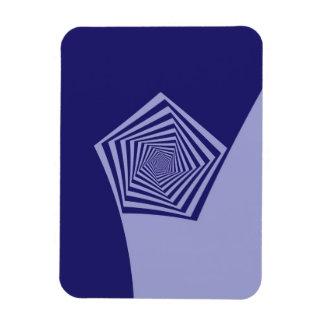 Gewundene Blues Pentagons Magnet