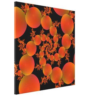 Gewundene Orangen Leinwanddruck