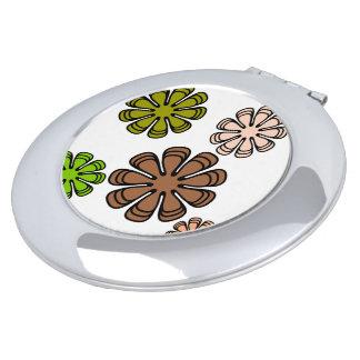 Gewundener Blume Camourflage Kunst-Make-upspiegel Taschenspiegel