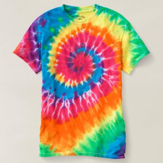 Männer Spiral Batik T-Shirt