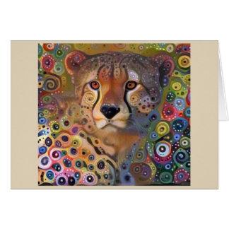 Gewundener Gepard Karte