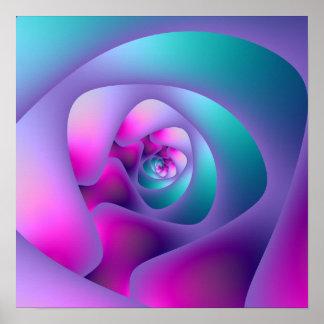 Gewundener Labyrinth-Druck Poster