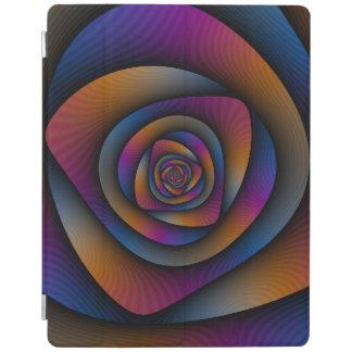 Gewundenes Labyrinth in blauem Orange und rosa iPad Hülle