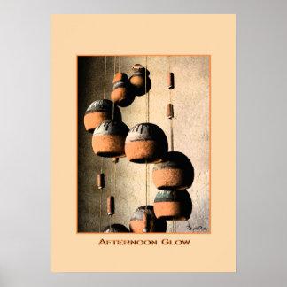 Gewundenes Lehm-Wind-Glockenspiel-Stillleben 20 x Poster