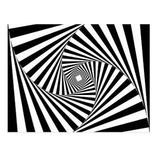 GEWUNDENES TUNNEL (ein schwarzer u. weißer Postkarte