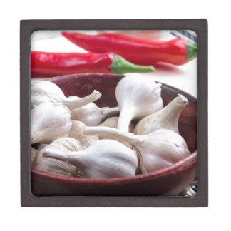 Gewürze für das Kochen der Nahaufnahme Kiste