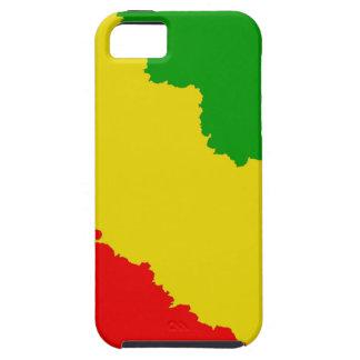 Gezackte Rasta Streifen iPhone 5 Schutzhülle