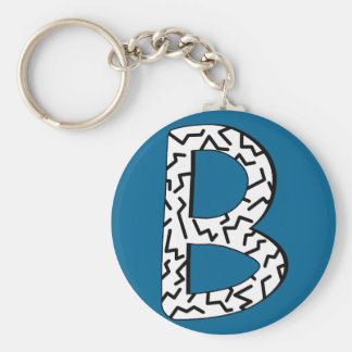 Gezacktes Muster B Schlüsselanhänger