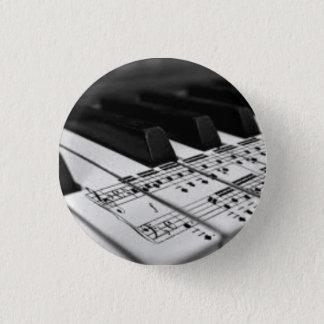Gezählt auf dem Klavier Runder Button 2,5 Cm