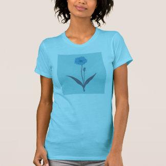 Gezeichnete blaue Blume T-Shirt