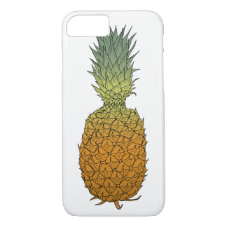 Gezeichnete farbige Tintenskizze der Ananas Hand iPhone 8/7 Hülle