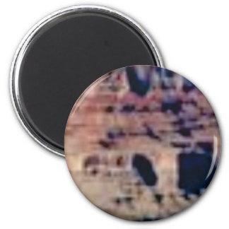 gezeichnete Felsen Runder Magnet 5,1 Cm