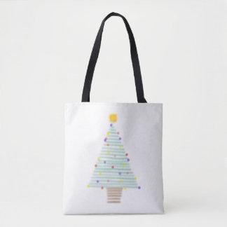 gezeichnete Weihnachtsbaum-Taschentasche Tasche
