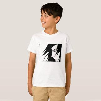 Gezeichneter Charakter mit Wind durchgebrannten T-Shirt