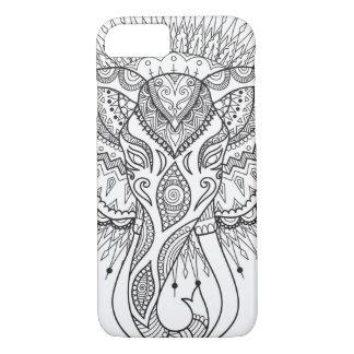Gezeichneter Telefonkasten des Elefanten Hand iPhone 8/7 Hülle
