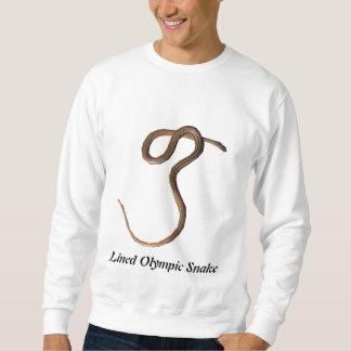 Gezeichnetes olympische Schlangen-grundlegendes Sweatshirt