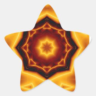 Gezeigter Stern des Kaleidoskop-acht auf Feuer Stern-Aufkleber