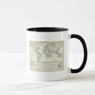 Gezeiten-Welle Atlas-Karte Tasse