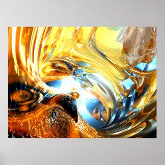 Gezeiten- Wellen-abstraktes Glasplakat Poster