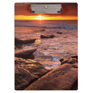 Gezeitenpools am Sonnenuntergang, Kalifornien