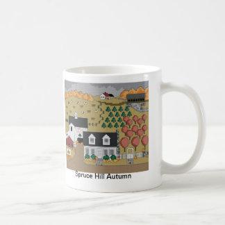 Gezierter Hügel-Herbst Kaffeetasse