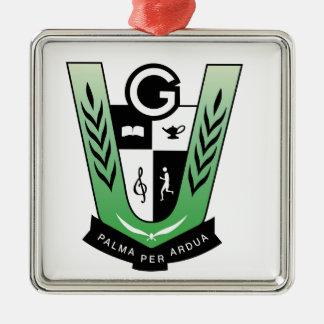 GGMSS 60. Schüler-Wiedersehen-Wappen-Produkte Silbernes Ornament