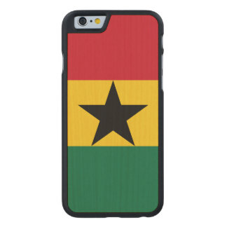 Ghana-Flagge Carved® iPhone 6 Hülle Ahorn