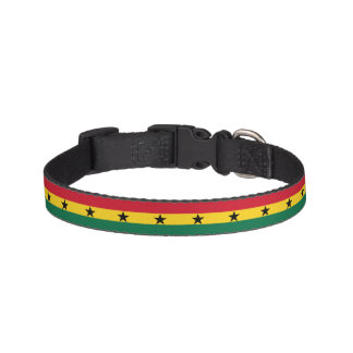 Ghana-Flagge Haustierhalsband