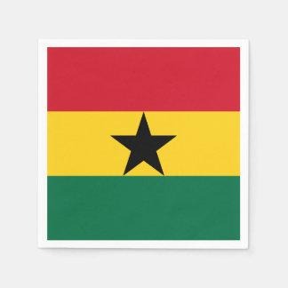 Ghana-Flagge Papierserviette