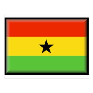 Ghana-Flagge Postkarte