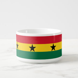 Ghana-Flagge Schüssel