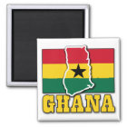 Ghana-Flaggen-Land Quadratischer Magnet