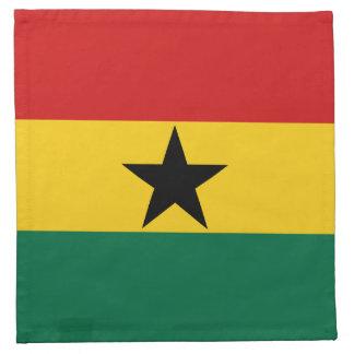 Ghana-Flaggen-Serviette Stoffserviette