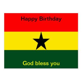 Ghana-Flaggengeburtstag Postkarte