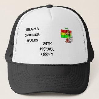 Ghana-Fußball 2, GHANA-FUSSBALL-REGELN, MIT Truckerkappe
