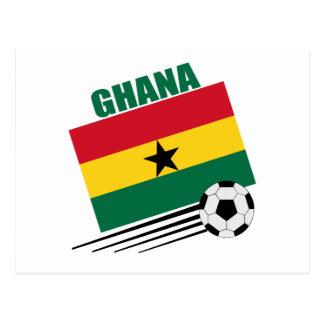 Ghana-Fußball-Team Postkarte