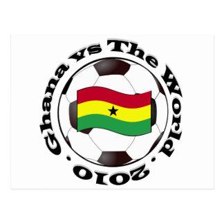Ghana gegen die Welt Postkarte