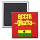 Ghana-Magnet Quadratischer Magnet