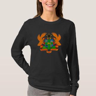 Ghana-Wappen Damen-lange Hülse T-Shirt
