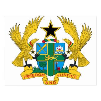 Ghana-Wappen Postkarte