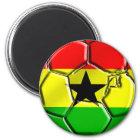 Ghanian Flaggenball für Ghanaians weltweit Runder Magnet 5,7 Cm