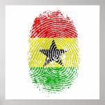 Ghanian Ghana DNS Stolzgeschenke 100% Poster