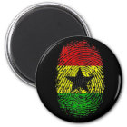 Ghanian Ghana DNS Stolzgeschenke 100% Runder Magnet 5,1 Cm