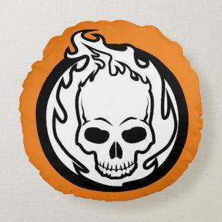 Ghost Rider-Ikone Rundes Kissen