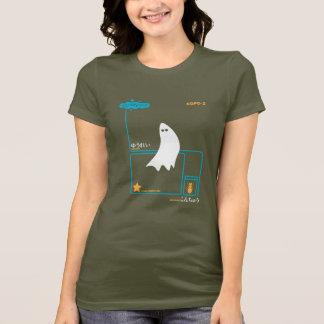 GHOST-T orange weiße turq Frauen T-Shirt
