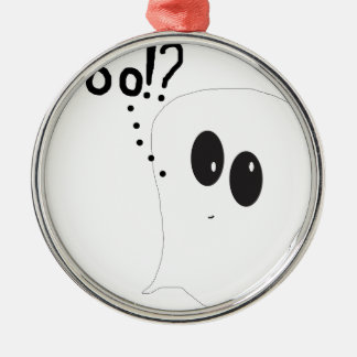 Ghosty - Boo Silbernes Ornament