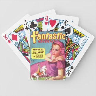 Giantess in einem Lavendel Kleid Bicycle Spielkarten